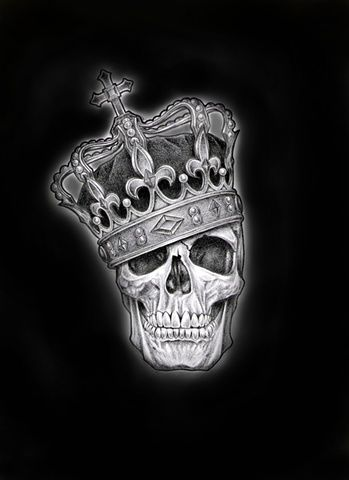 Top Drawing Of Skull With Crown Images for Pinterest Tattoos
