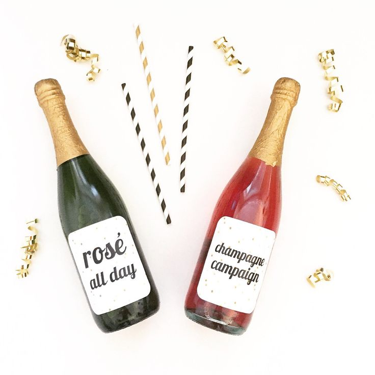 Take your party to the next level with these rosé + champagne labels.