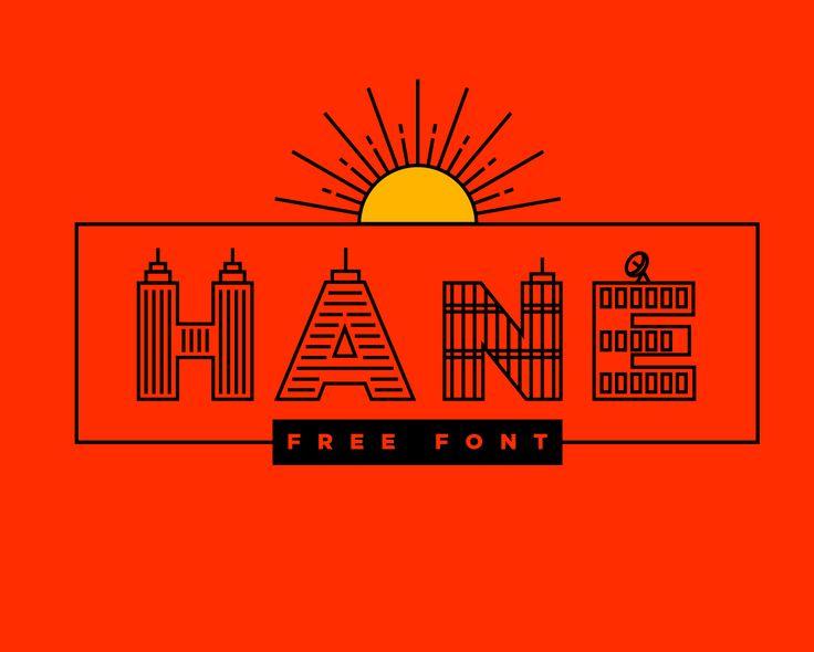 """Şu @Behance projesine göz atın: """"Hane Free Font"""" https://www.behance.net/gallery/43448491/Hane-Free-Font"""