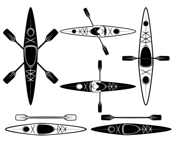 Kayaking Kayak Svg Graphics Illustration Vector Logo Digital Clipart Kayaking Kayak Decals Kayak Stickers