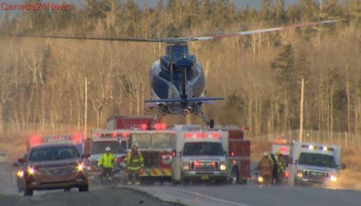 Woman killed, 4 injured in Hwy 102 crash near Halifax airport
