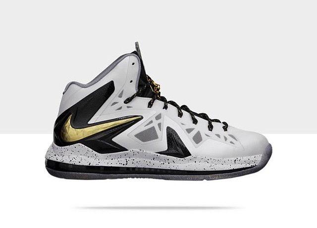 Nike Lebron X P.S Elite White/Metallic Gold