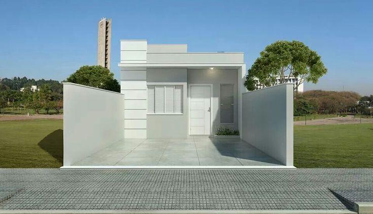 Fachada casa pequena estrutural pinterest for Fachadas de casas modernas 1 pavimento