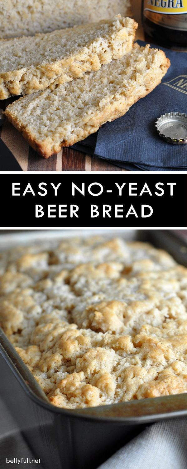 Easy and delicious No-Yeast Beer Bread with brown sugar and a crispy buttery crust!