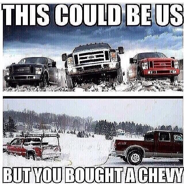 LOL what can I say I'm a ford girl