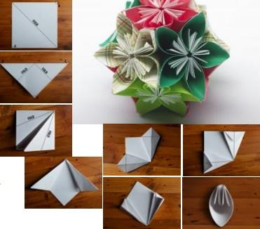 Origami Flower Pomander Tutorial