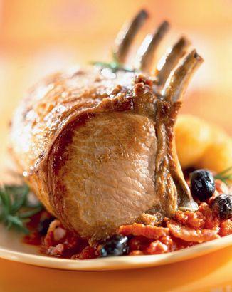 Recette de carré de #porc à l'andalouse