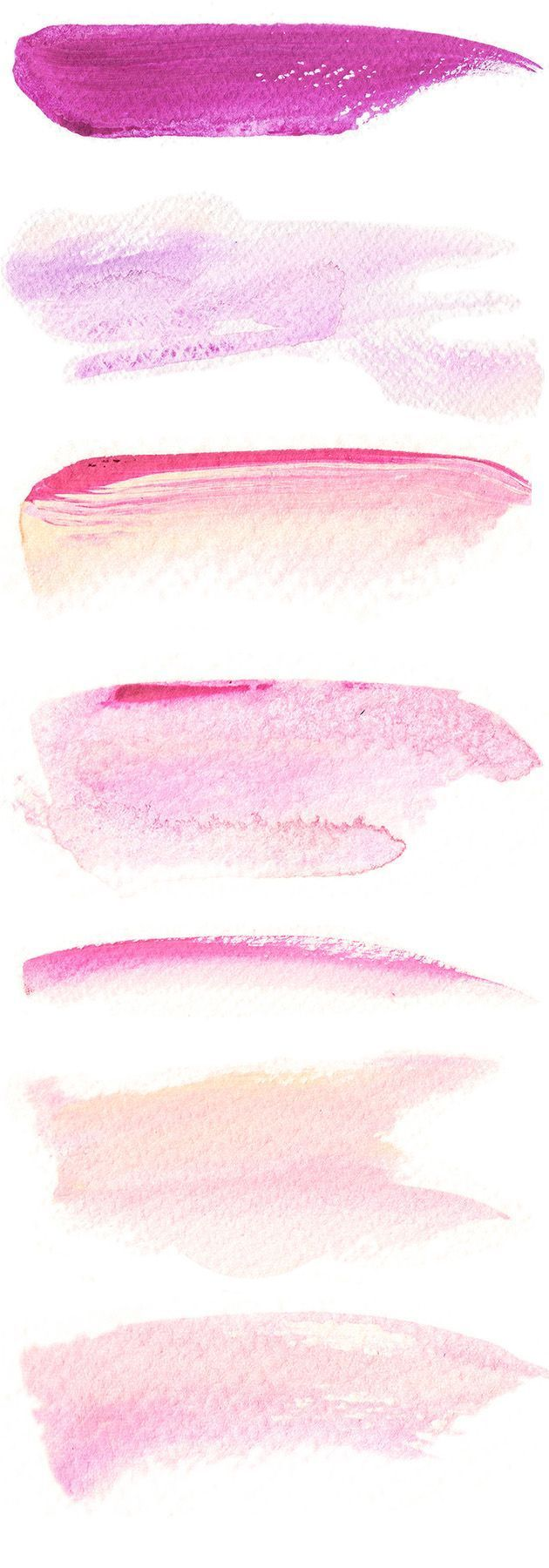 free downloadable #watercolor brushstroke images for graphic design projects on Astrid's blog:  http://www.astridmueller.com/blog/en/free-downloadable-watercolor-brush-strokes  we love the color palette in these!