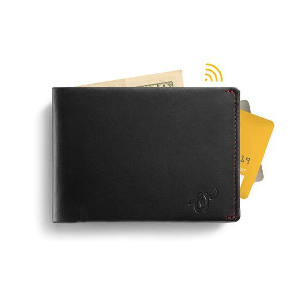 Woolet Black - slim, smart wallet