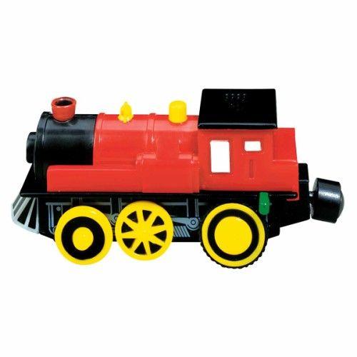 Une locomotive pour les circuits de trains qui fait du bruit, comme une vraie.