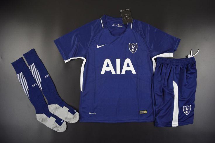 Youth Tottenham Hotspur Away Blue Fans Version Full Kits 2017/18