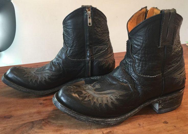 MEXICAN OLD GRINGO BLACK LEATHER COWBOY BOOTS 6 UK 39 EUR RRP £500 WORN ONCE | Vêtements, accessoires, Femmes: chaussures, Bottes, bottines | eBay!