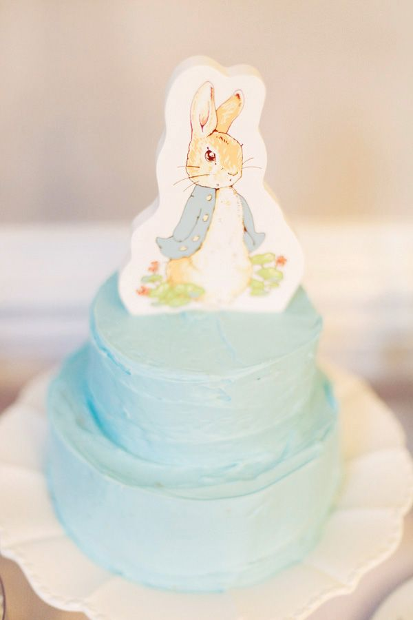 Peter Rabbit First Birthday Party #PeterRabbit #Cake  Get Peter Rabbit Decor here: http://www.cheftools.com/Peter-Rabbit/products/1896/