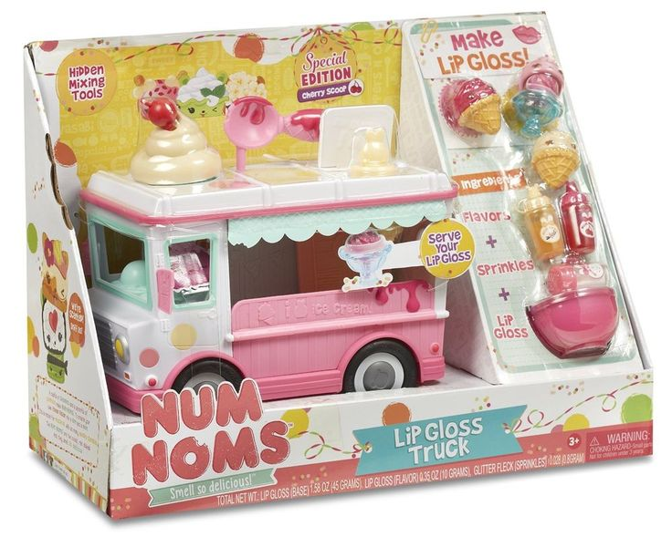 Num Noms Lipgloss Truck Craft Lip Gloss Kit Special Edition Exclusive New #numnoms