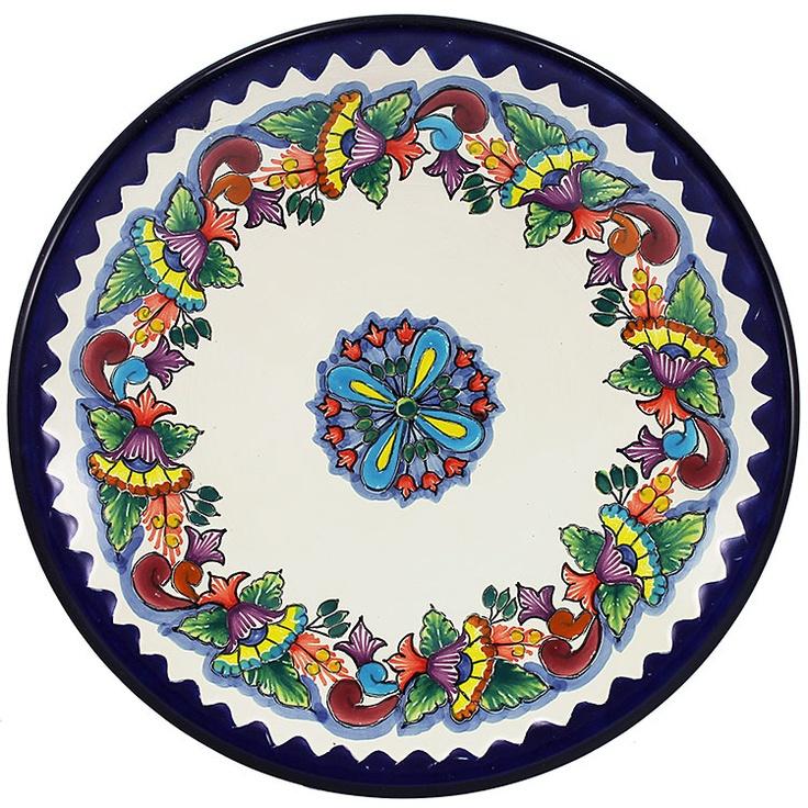 Large Talavera Plate. Talavera PotteryCeramic PotteryMexican ...  sc 1 st  Pinterest & 135 best Plates...... images on Pinterest   Decorative plates Plate ...
