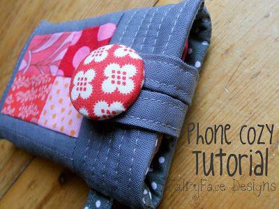 FairyFace Designs: Last minute gift idea: Phone Cozy Tutorial