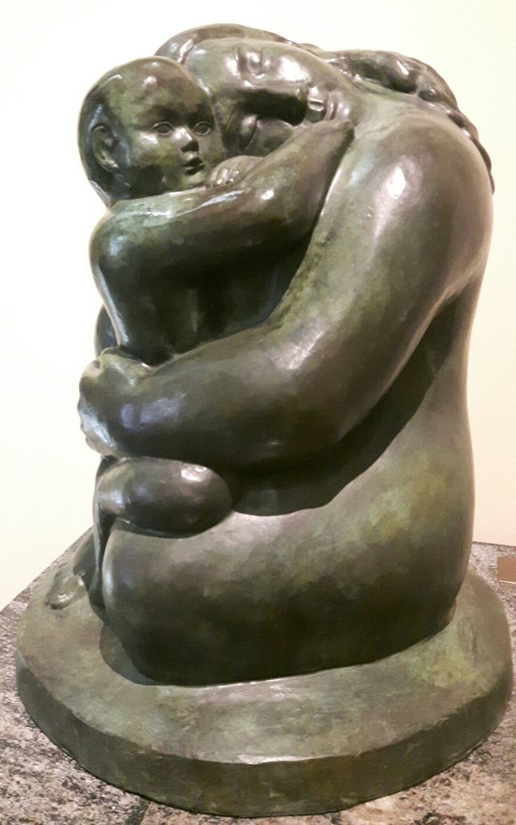 William Zorach (1887-1966). Madre e bambino . Pushkin Museum Moscow