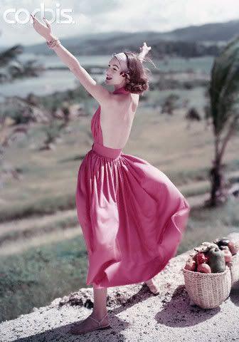 1960s halter dress: Sundresses 1957, Pink Sundresses, Vintage Fashion, Mccardel Dresses, Claire Mccardel, Dresses Bit, 1950 S Fashion, 1950S Fashion, Rings Jewelry Fashion