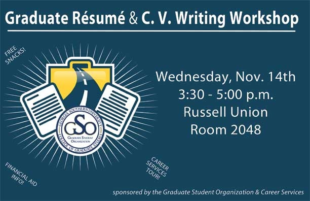 Mark your calendars for the Graduate Resume \ CV Writing - resume writing workshop