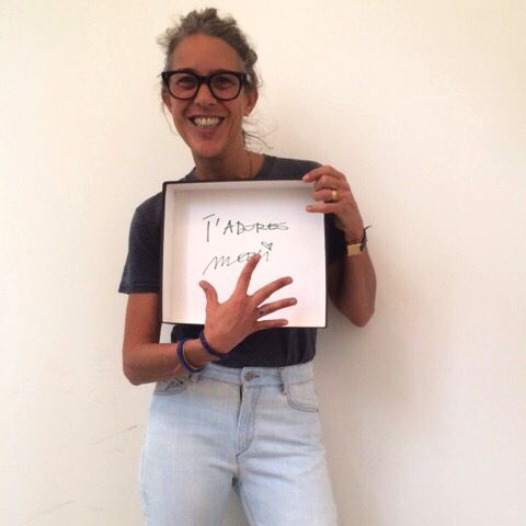 We adore you too @IsabelMarant!! Parisian Fashion Designer, Isabel Marant herself holding a @WeCreateHarmony box with a love note to our team, rocking her new 'The Eye Ring!' Scoop your own up on our site! #wecreateharmony #isabelmarant #isabelmarantetoile #IM #frenchgreekconnection #theevileye #theeyering