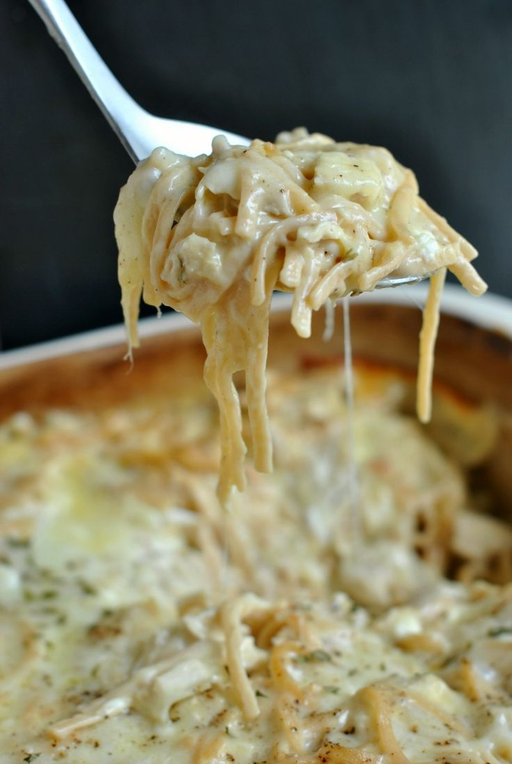 Easy, delicious Chicken Tetrazzini recipe, perfect for a family meal or a crowd! this recipe is great for a new mom too!