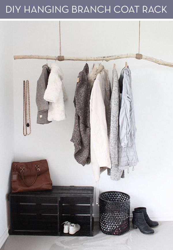 For the wall to the right of the front door Make It: Rustic Hanging Coat Rack DIY » Curbly | DIY Design Community