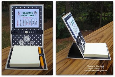 Calendar Post-it Note Easel - Stamp and Sew For Fun