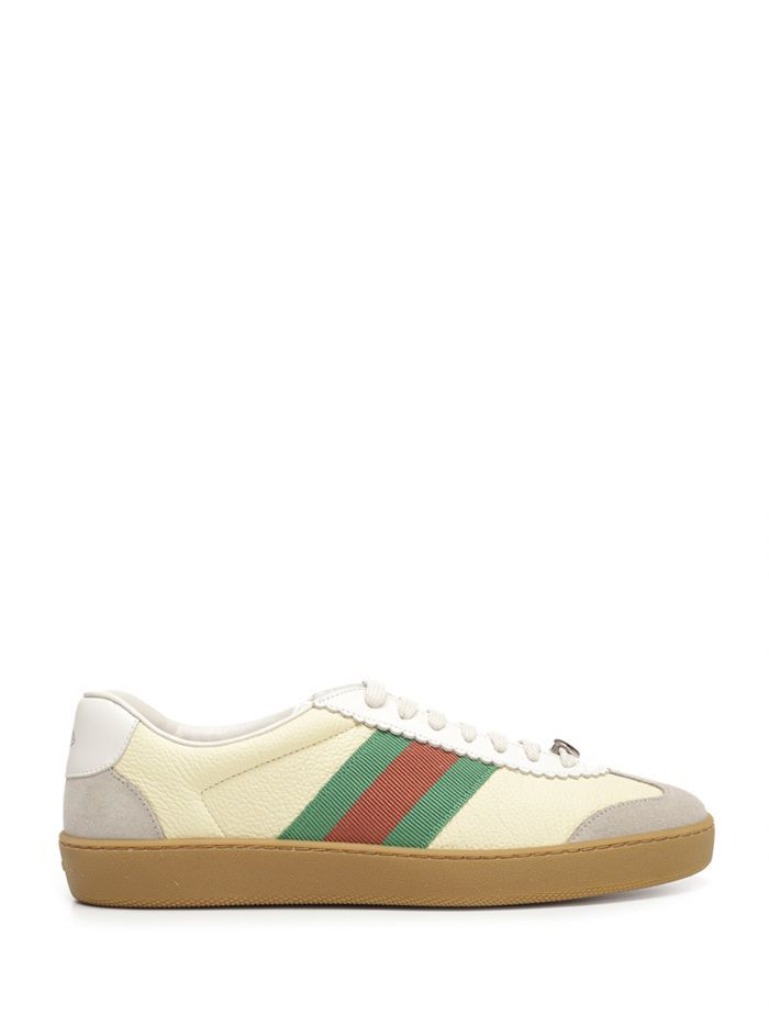 GUCCI SNEAKERS IN IVORY COLOR WITH