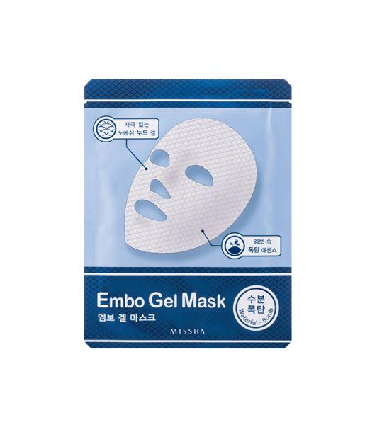 Missha Embo Gel Mask Waterfull Bomb Silnie nawilżająca maseczka żelowa | TWARZ \ pielęgnacja twarzy \ maski TWARZ I CIAŁO \ PIELĘGNACJA TWARZY \ MASKI DOMOWE SPA \ AZJATYCKA PIELĘGNACJA \ MASKI W PŁACIE | Minti Shop