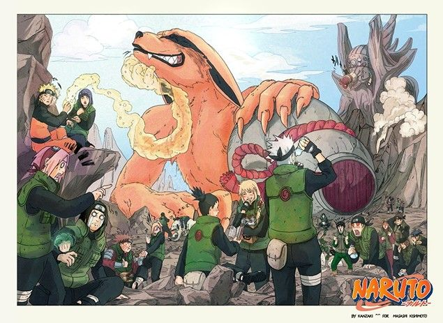 relax.  Kakashi's mask it off to drink the bottle and everyone is shocked looking at him.