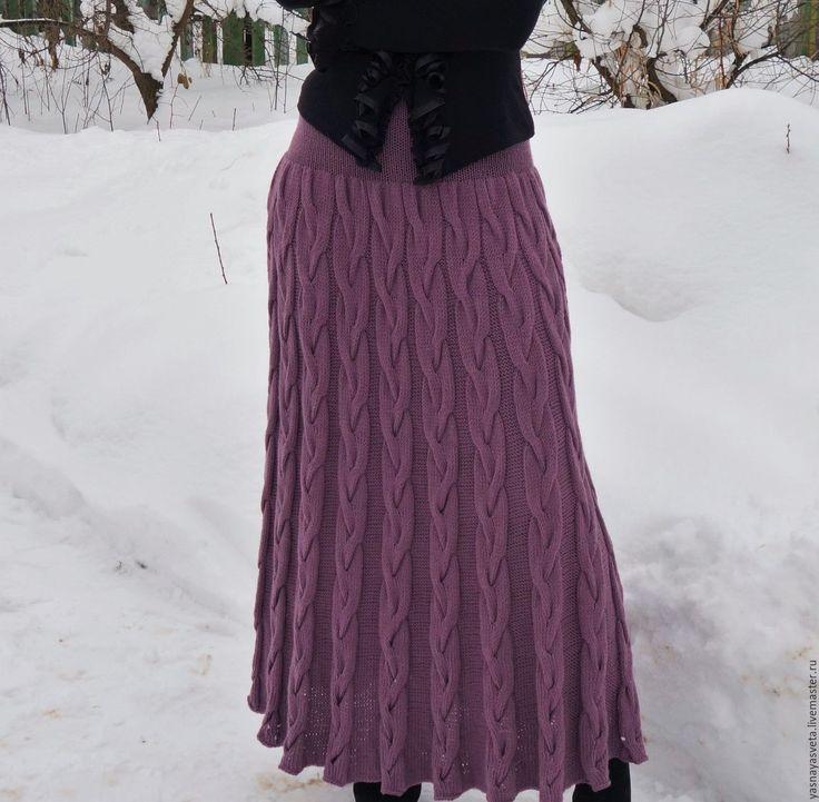 Купить Юбка вязаная Тоскана - юбка, юбка вязанная, юбка в пол, юбка длинная