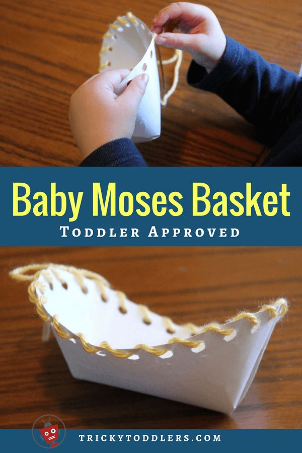 Adorable craft for baby Moses story. trickytoddlers.com