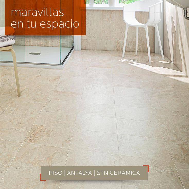> Logra maravillas en tu espacio con este #piso #porcelánico esmaltado Antalya de STN Cerámica que logra un acabado tipo #mármol. Búscalo en DECERAMICA.COM