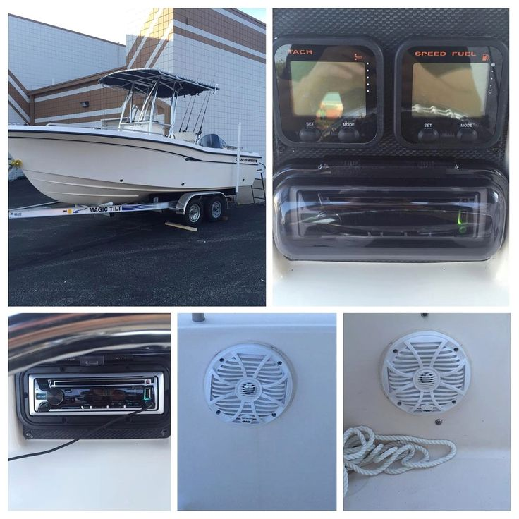 Only two weeks left til the big Labor Day weekend! Get your boat audio right today! New @wetsounds speakers and a #kenwood radio has this Grady White sounding great!  Interested in a remote car starter or upgraded car audio system? View our profile for our contact information & give one of our team members a call today. #Mechanicsville #richmondva #richmond #carstereo #remotecarstarter #remotestartsale #viper #remotestart #prius