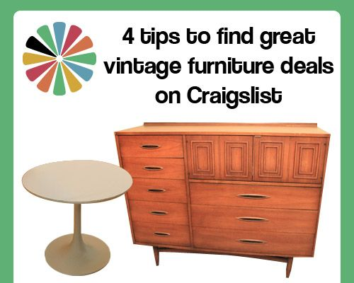Find Great Vintage Furniture Deals On Craigslist   4 Tips To Help Improve  Your Search
