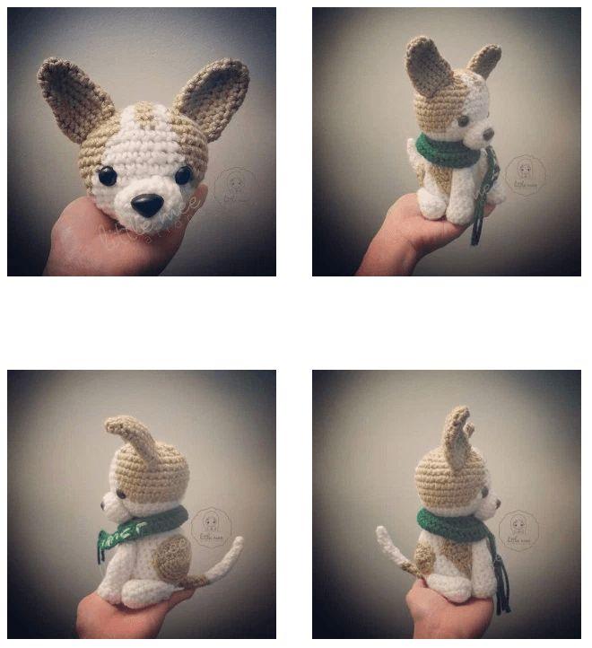 Patrón gratis amigurumi de perro chihuahua Espero que os guste tanto como a mi! Idioma: Inglés Visto en la red y colgado en mi pagina: