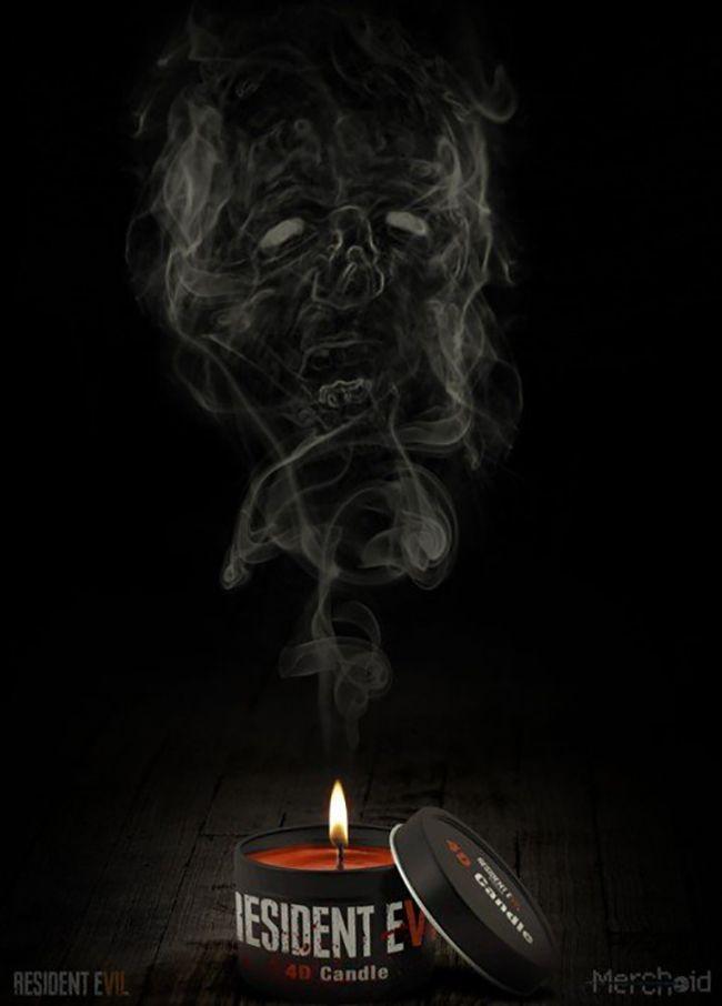Une bougie à l'odeur de sang pour promouvoir Resident Evil 7