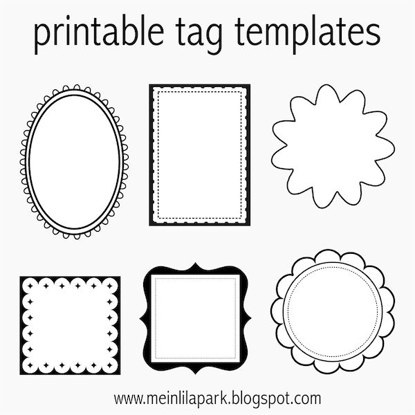 32 best black and white border a4 images on pinterest border free printable tag templates for diy tags ausdruckbare etiketten freebie negle Gallery