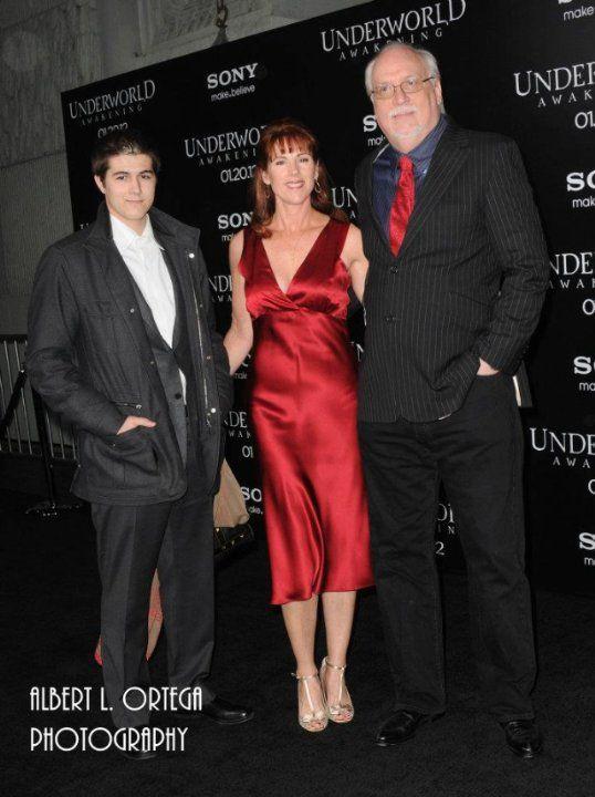 Julian Tallman, Patricia Tallman, and J Michael Straczynski at the Underworld :Awakening premier, which JMS co wrote