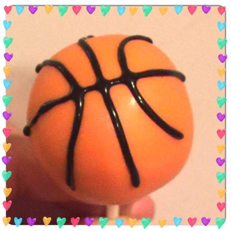 Basketball cake pops By L&G Delights