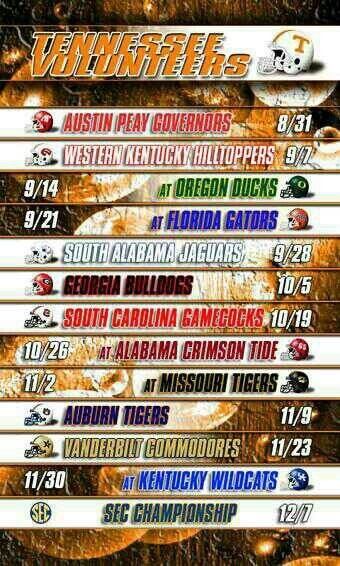 Tennessee Volunteers football schedule