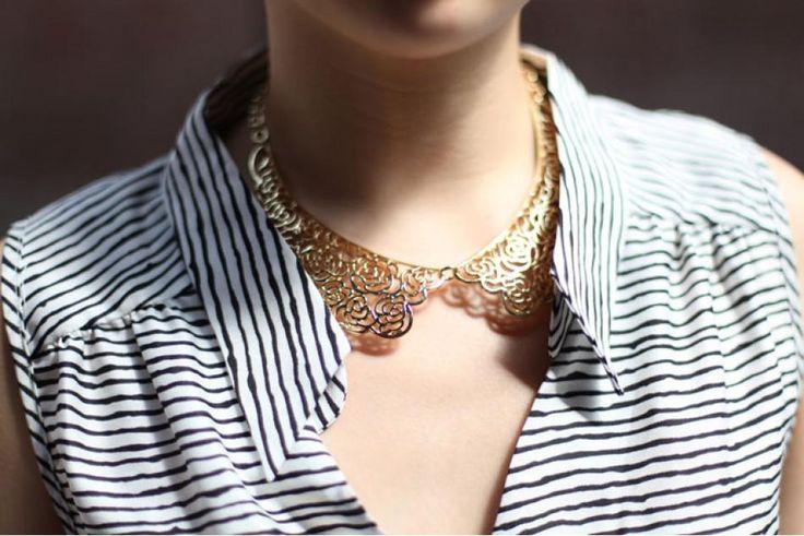 Anthropologie metal collarGold Floral, Floral Collars, Metals Collars, Collars Necklaces, Style Pinboard, Mikkat Marketing, Accessories, Gold Collars, Heavy Metals