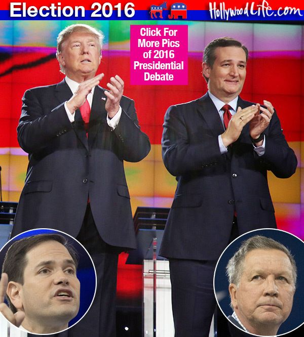 Ted Cruz, Marco Rubio and John Kasich will discuss the issues during the March 10 Republican debate, but Donald Trump will likely brag about the size of his hands again. It's do-or-die for these GOP presidential candidates and HollywoodLife.com wants you to see every second. Click to watch!