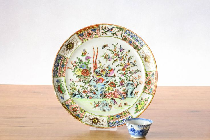 Top! Ca1850 Straits Nyonyaware Malacca Porcelain Dragon Plate Plate Qing Quality. OSELLAME's Collection.