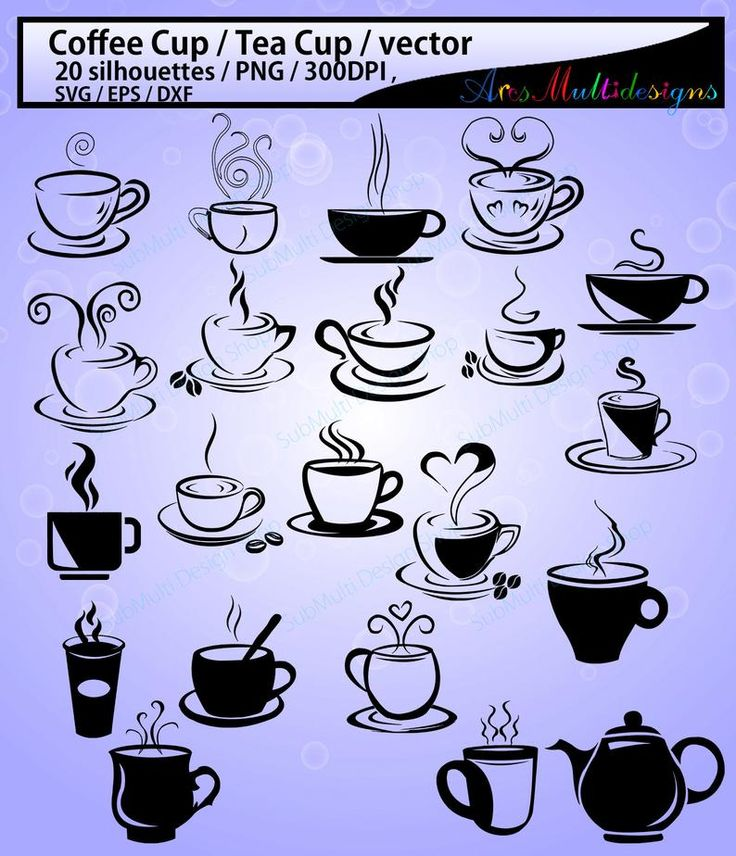 20 coffee svg / Tea mug / HQ / coffee cup silhouette / tea