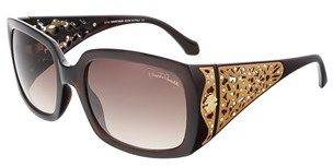 Roberto Cavalli Rc804s 50f Aldebaran Dark Brown/bronze Rectangle Sunglasses.