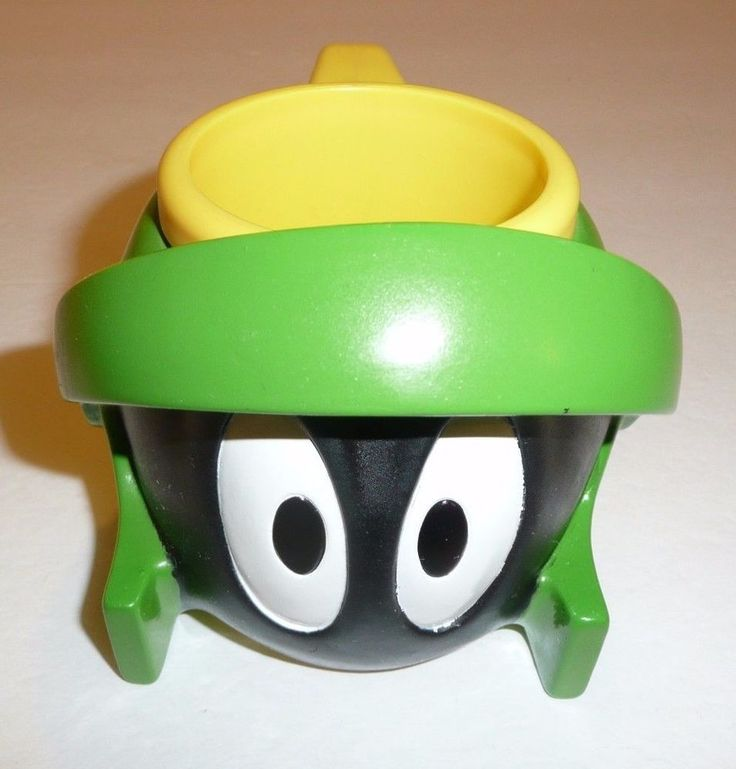1995 Marvin the Martian Plastic Coffee Cup Mug Applause - Looney Tunes Kids WB #Applause