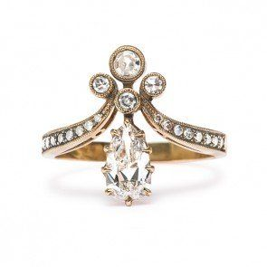 Victorian Vintage Inspired Engagement Ring | Vintage Engagement Ring | Tiara I