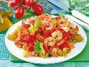 Tomaten-Reis mit Garnelen