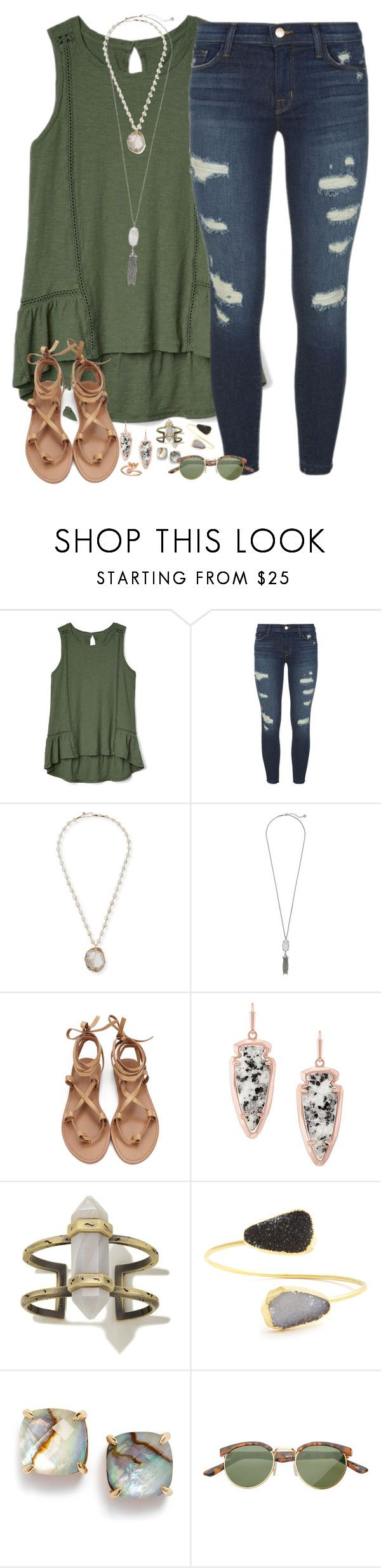 """forever yours"" by kaley-ii ❤ liked on Polyvore featuring Gap, J Brand, NAKAMOL, Kendra Scott, Sole Society, Kate Spade, SW Global and Alex and Ani"